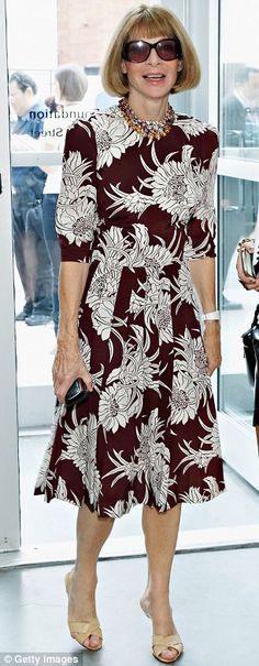 Anna Wintour #celebrity #streetstyle