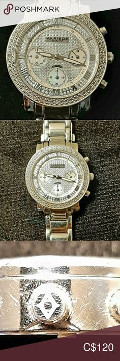 I just added this listing on Poshmark: Diamond And Mother Of Pearl Akribos Watch! High End Watches, Shop My, Man Shop, Mother Pearl, Michael Kors Watch, Diamonds, Sparkle, Mint, Gems