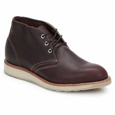 Red Wings makes a cool chukka boot! Love the trendy white rubber sole!