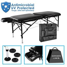 "Master Massage 30"" StratoMaster Light Weight, Black (Only 25 lbs) With New NanoSkin Upholstery and Fully Loaded with Accessories ** See this great product."