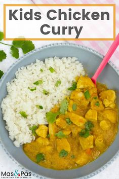 A great kids chicken curry that's both very mild and uses healthy, natural ingredients. It has a few simple spices which combined with red lentils give a great, creamy and tasty curry sauce. And kids will love it! Chicken Recipes For Kids, Baby Food Recipes, Dinner Recipes, Toddler Recipes, Dinner Ideas, Dinners For Kids, Kids Meals, Easy Meals, Mild Curry Recipe