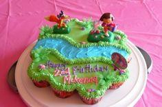 Dora Cupcake Cake By Jenztulips on CakeCentral.com