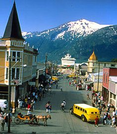 Skagway, Alaska.  Adored this town.  Also was the jumping off point for the Yukon Trail.  How people traversed it still shocks me.