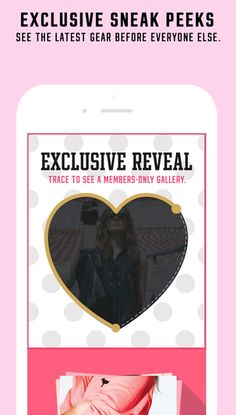 Victoria's secret - interact with screen to reveal 'exclusives'