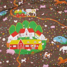 Would be fun for toy tractor and farm animals if could find similar fabric