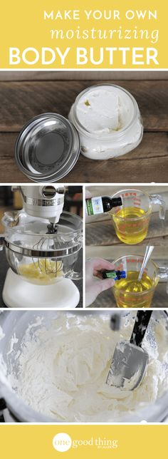 Make your own moisturizing Body Butter - One Good Thing by Jillee