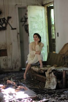 Sassy Sister Vintage: More Pics: Abandoned Building Fashion Shoot