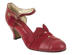 Remix Trieste Heels | 1920's Inspired Heels | Red