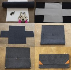 Always Rooney: No Sew Clutch Wallet | DIY. It'd be cool to add some fabric to the outside