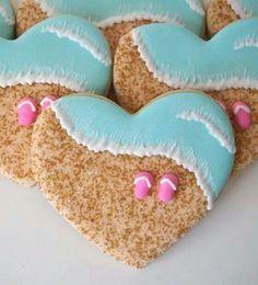 Beach cookies !! I ♥ them