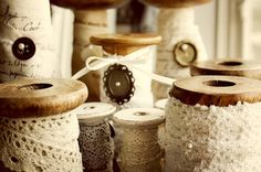 Store lace on old spools