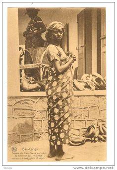 Bas-Congo, Femme du Haut-Congo, au marche de Kitobola (Bangu), 00-10s