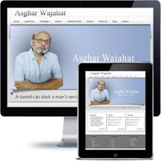 Asghar Wajahat personal website built with Wordpress using responsive web design.
