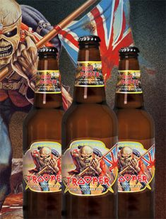 Trooper ale - This I've got to try - Iron Maiden vocalist, pilot and all around renaissance man, Bruce Dickinson, is now about to unleash a first-class beer on the world. Named after one of Iron Maiden's most beloved songs, 'Trooper' is being touted as a premium ale and has been brewed into existence at Robinson Brewery, who have been brewing award-winning beers from its Unicorn Brewery in Stockport for 175 years.