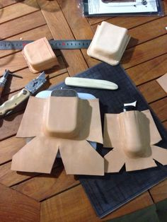 Leather forming.