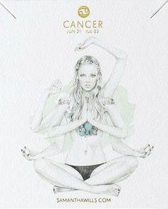 Cancer ♋ Zodiac Sign. kelly smith illustration & samantha wills jewelry
