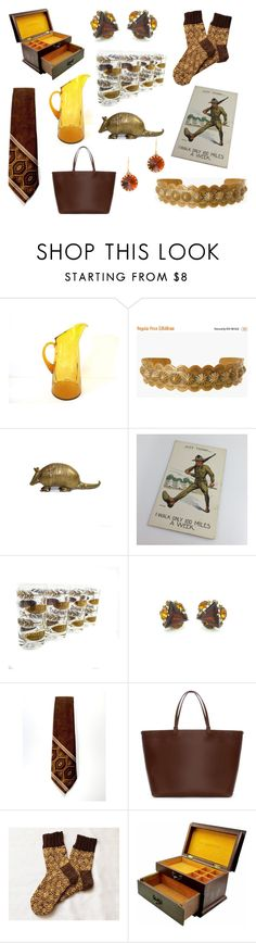 """""""Truth be told. Brown & Gold"""" by seasidecollectibles ❤ liked on Polyvore featuring Zara, J.Crew and vintage"""