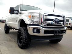 "White color Ford Superduty ""Lifted Truck"""