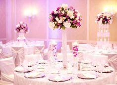 decoracion bodas blanco y lila - Buscar con Google