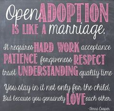 ❤️❤️ open adoption - birth parents - adoptive parents - adoptee