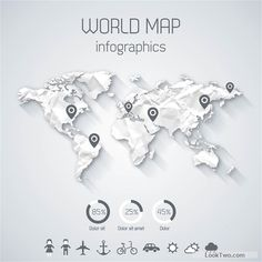 Creative world map and infographics vector graphics 04 free free free creative world map and infographics vector graphics 03 vector download sciox Images