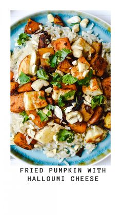 Fried pumpkin with halloumi cheese - Anne Travel Foodie Pumpkin Risotto, Pumpkin Soup, Vegetarian Recipes Dinner, Dinner Recipes, Healthy Recipes, Fried Halloumi, Risotto Recipes, Baked Pumpkin, Foodie Travel