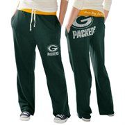 Green Bay Packers Ladies Recruit Fleece Pants - Green