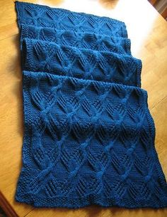 Ravelry: Cable Knit Throw pattern by Brenda A. Lewis