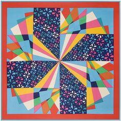 100cm*100cm New Arrival 100% Twill Silk Colorful geometric diamond windmill Women spell color 100% Twilly Silk scarves 3133