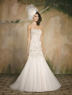 The FashionBrides is the largest online directory dedicated to bridal designers and wedding gowns. Find the gown you always dreamed for a fairy tale wedding. Trumpet Style Wedding Dress, Wedding Dress Organza, Fit And Flare Wedding Dress, Bridal Gowns, One Shoulder Wedding Dress, Tulle Gown, Popular Wedding Dresses, Wedding Dresses 2014, Wedding Gowns