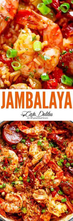 An easy Jambalaya recipe is pure comfort food filled to the brim with flavour. The aromatic trinity of Cajun/Creole cooking: onion, celery, and bell peppers (capsicums), sautéed in andouille drippings with garlic, herbs and Cajun spices! Cajun Recipes, Fish Recipes, Seafood Recipes, Crockpot Recipes, Chicken Recipes, Cooking Recipes, Creole Recipes, Pork Recipes, Creole Jambalaya Recipe