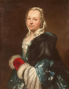 Portrait of a woman, 18th century by a follower of Louis Tocque (1696-1772)