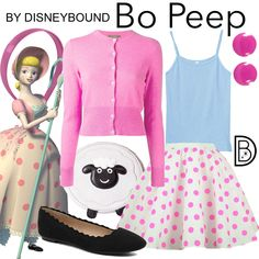 DisneyBound is meant to be inspiration for you to pull together your own outfits which work for your body and wallet whether from your closet or local mall. As to Disney artwork/properties: ©Disney Toy Story Halloween Costume, Toy Story Costumes, Family Costumes, Baby Costumes, Disney Bound Outfits Casual, Disney Themed Outfits, Toy Story Party, Toy Story Birthday, Little Bo Peep Costume