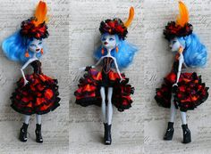 Monster High Clothes hand made Dress Monster High by MonstersNight