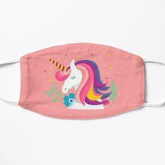 'Magical Unicorn' Mask by Unicorn Mask, Baby Unicorn, Party Face Masks, Diy Face Mask, Mask Painting, Fabric Painting, Money In The Bank, Unicorn Fashion, Red Mask