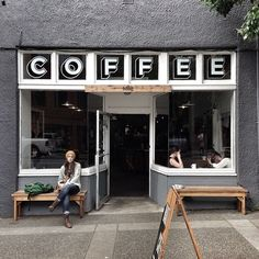 This one's located at 552 Pandora Ave. In front of this coffee shop is a bus stop where you can catch the buses. My Coffee Shop, Coffee Shop Design, I Love Coffee, Cafe Design, Coffee Break, Coffee Girl, Bar Deco, Deco Cafe, Café Bar