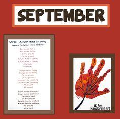 Handprint Calendar - September Leaf Art