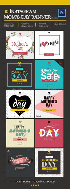Banner Instagram — Photoshop PSD #photoshop #mother's day • Available here → https://graphicriver.net/item/banner-instagram/15913952?ref=pxcr