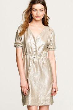 Metallic Twill Rumi Dress by J. Crew