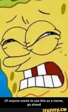 Or anyone wants to use this as a meme, gu ahead - Of anyone wants to use this as a meme, go ahead - iFunny :) Funny Spongebob Memes, Go Ahead, Popular Memes, Give It To Me