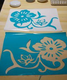 #tutorial #stencil cutting using vinyl