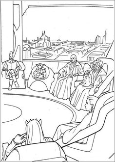 Knight Jedi Meeting Coloring Page If You Like This Share It With Your Friends They Will Love These Sheets