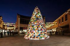 Consumerist Christmas Tree at Lumiere Durham 2013. (Photo by George Ford)