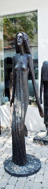 .Olbrm Zoubek - Libuše Architectural Sculpture, Contemporary Art, Bronze, Beautiful, Modern Art, Contemporary Artwork