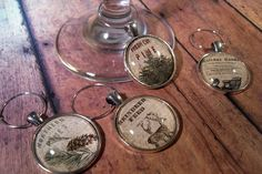 Winter Forest Wine Glass Charms - Set of 4