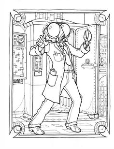 science fiction coloring pages - Google Search