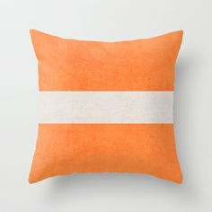 orange classic Throw Pillow Basement