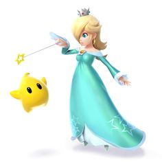 Rosalina & Luma as they appear in Super Smash Bros. for Nintendo 3DS / Wii U.