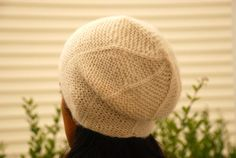 Knitted Hat for Women in White, Alpaca Beret on Etsy, $18.00