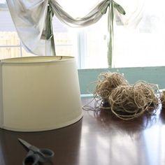 DIY jute wrapped light